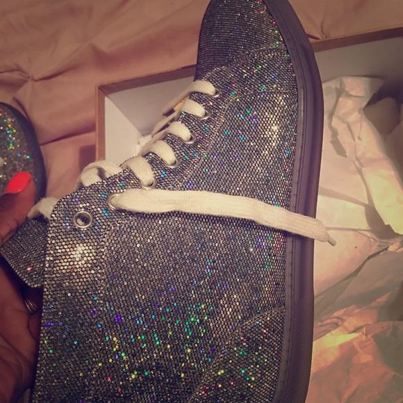 58e58009ca9 Louboutins woman Flat Glitter disco Ball Sneakers